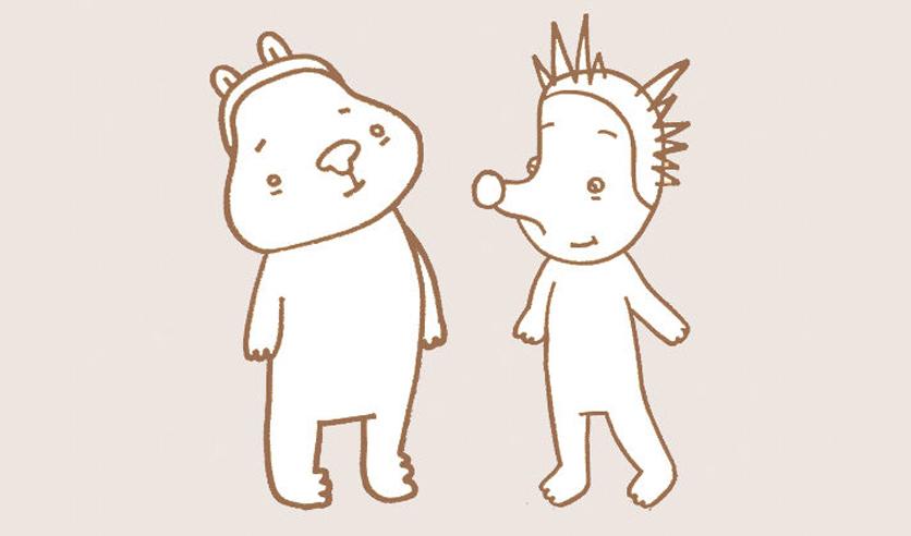 Ежик и медвежонок, фото